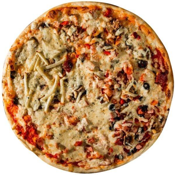 """Пицца """"4 вкуса"""" доставка Омск"""